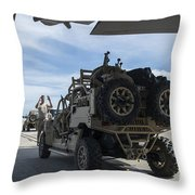 An All-terrain Vehicle Is Guided Onto Throw Pillow