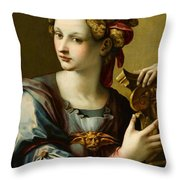 An Allegory Of Fortitude Throw Pillow
