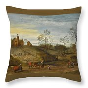 An Allegory Of Spring Throw Pillow
