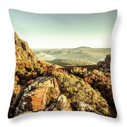 An Alpine Morning Throw Pillow