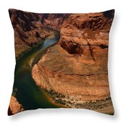An Amazing Place - Horseshoe Bend Throw Pillow