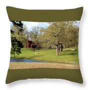 An American Farmer Throw Pillow