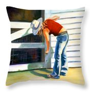 An American Girl Throw Pillow