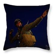 An American Pineapple Throw Pillow