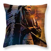 An American Sunrise Throw Pillow