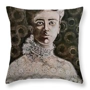 An American Tragedy Throw Pillow by Rosemary Kavanagh