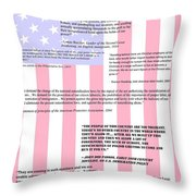 An American Traditition Throw Pillow