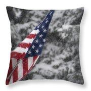 An American Winter Throw Pillow