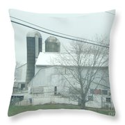 An Amish Barn In April Throw Pillow
