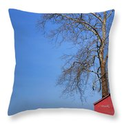 An Amish Scene Throw Pillow