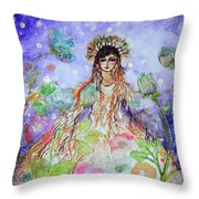 An Angel For All Of The Chakras And Her Name Is Simplicity Throw Pillow