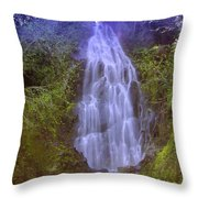 An Angel In The Falls  Throw Pillow