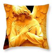 An Angels Sorrow Throw Pillow