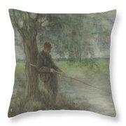 An Angler Throw Pillow