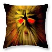 An Angry God Throw Pillow