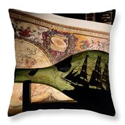 An Antique Map Provides The Backdrop Throw Pillow by Todd Gipstein