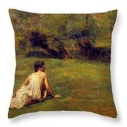 An Arcadian Throw Pillow