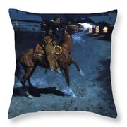 An Arguement With The Town Marshall 1907 Throw Pillow