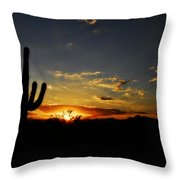 An Arizona Sunrise  Throw Pillow