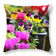 An Artsy Garden Throw Pillow