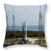 An Atlas V-551 Launch Vehicle At Cape Throw Pillow