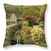 An Autumn Garden  Throw Pillow
