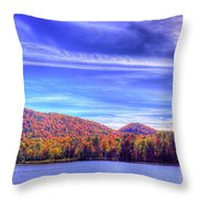 An Autumn Panorama Throw Pillow