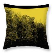 An Autumnal Visit Throw Pillow