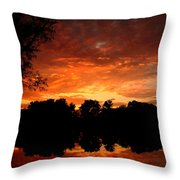 An Awesome Sunset  Throw Pillow