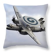 An E-2c Hawkeye Performs A Fly-by Throw Pillow