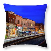 An Early Evening In Ashland Throw Pillow
