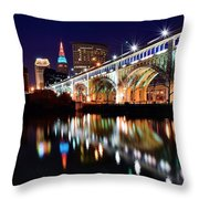 An Early Evening In Cleveland Throw Pillow