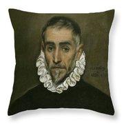 An Elderly Gentleman Throw Pillow