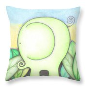 An Elephant For Erin Throw Pillow