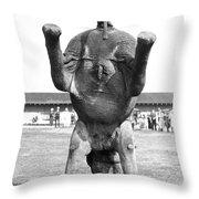 An Elephant Headstand Throw Pillow
