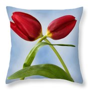An Embrace Of Tulips Throw Pillow