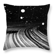 an English winter - number I Throw Pillow