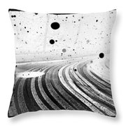 an English winter - number II Throw Pillow
