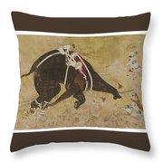 An Enraged Elephant Throw Pillow