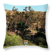 An Entrance To Peters Canyon Throw Pillow