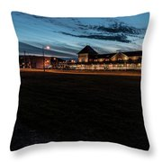 An Evening At The Train Station Throw Pillow