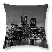 An Evening In Boston Throw Pillow
