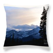 An Evening In The Mountains Throw Pillow