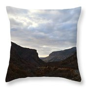 An Evening View Through A Valley In The Southwest Foothills Of The Sierra Nevadas Throw Pillow