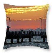 An Evenings Cast Throw Pillow