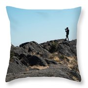 An Excellent Shot Throw Pillow