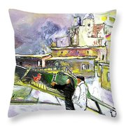 An Exotic Guest In Spain Throw Pillow