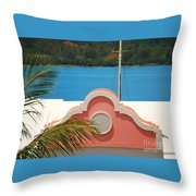 An Eye Brow Roof At Grotto Bay Throw Pillow