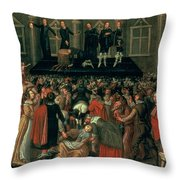 An Eyewitness Representation Of The Execution Of King Charles I Throw Pillow