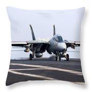 An F-14d Tomcat Makes An Arrested Throw Pillow